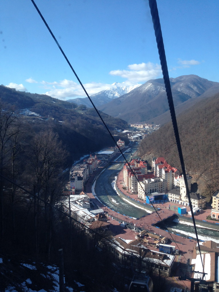 Gondola view from heading up from town to the hill.